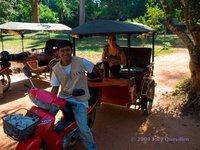 Cambodia Taxi Driver with Tuk Tuk